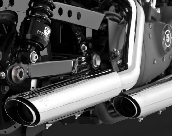 "Vance & Hines Twin Slash 3"" Slip-On Exhaust System for 2004-2013 Harley-Davidson Sportster"