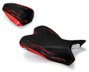 LuiMoto Flame Edition Seat Cover 2009-2014 Yamaha YZF R1 - CF Black/Red