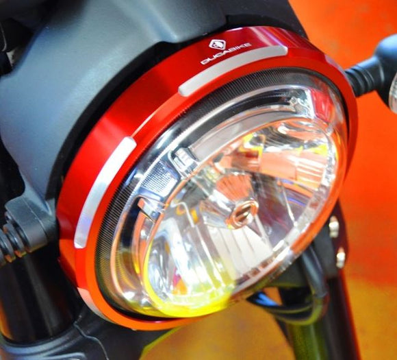 DucaBike CFSCRA01 Billet Aluminium Headlight Trim for Ducati Scrambler
