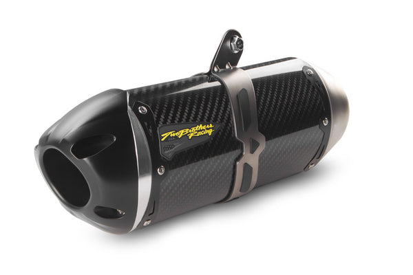 Two Brothers Racing S1R Carbon Slip-On Exhaust System for 09-12 Kawasaki ZX6R, 13-14 ZX6R 636