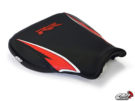 LuiMoto Tribal Blade Seat Cover 07-12 Honda CBR600RR - Black/Red/Cf White