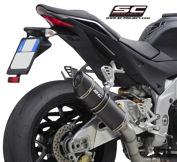 SC Project Oval Slip-on Exhaust for 2011-2014 Aprilia Tuono V4 APRC