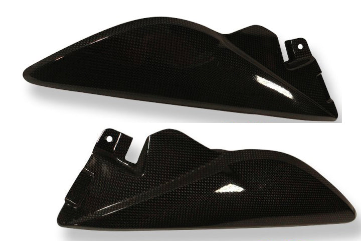 ILMBERGER Carbon Fiber Right+Left Lower Tank Covers 2011-2012 Triumph Speed Triple / R 1050