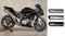 M4 High Sport Mount Full Stainless Steel Exhaust System for 04-08 Suzuki SV1000