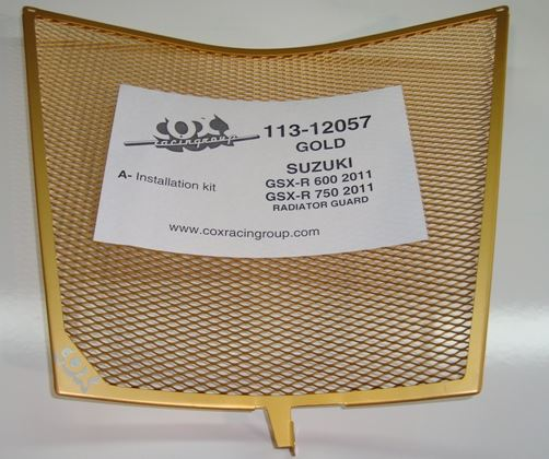 Cox Racing Radiator Guard '11-'21 Suzuki GSXR600 / 750