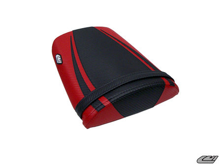 LuiMoto Tribal Flight CF Seat Covers 2004-2007 Honda CBR1000RR - CF Black/CF Red