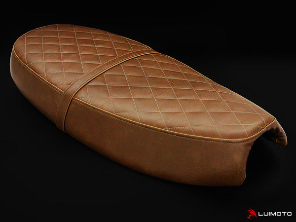 LuiMoto Vintage Seat Covers for Triumph Scrambler - Brown