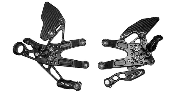 Attack Performance Rear Set Kit For 2013-2015 Triumph Daytona 675/R - Black
