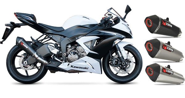 Scorpion Serket Taper Slip-on Exhaust Systems for 2013 Kawasaki Ninja ZX6R