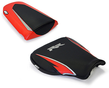LuiMoto Tribal Blade Seat Cover 07-12 Honda CBR600RR - Black/Red/Silver
