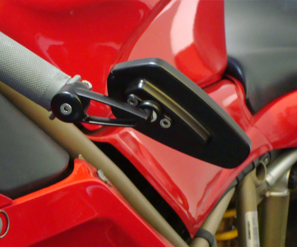 CRG Arrow Billet Handle Bar End Mirror (Each)