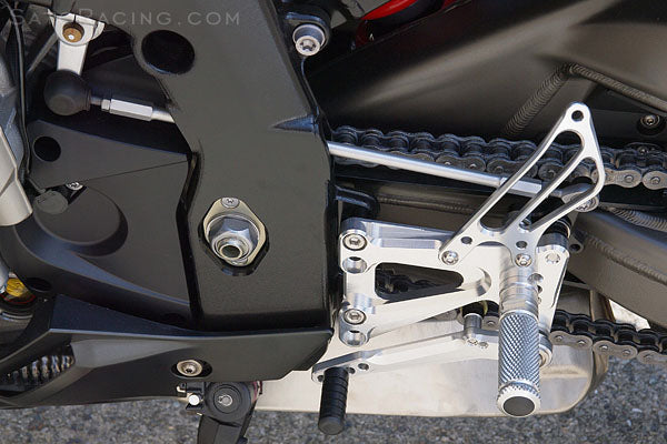Sato Racing Adjustable Rearsets for 2009-2014 BMW S1000RR - Forward / Up Version