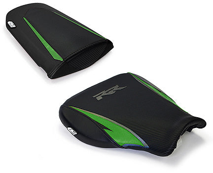 LuiMoto Tribal Blade Seat Cover 07-12 Honda CBR600RR - Cf Black/Green