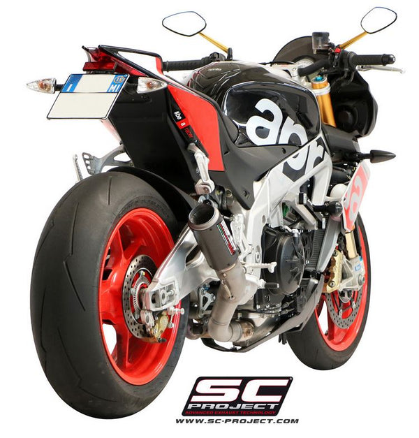 SC Project CR-T Slip-on Exhaust for 2015-2016 Aprilia Tuono V4 Factory / RR