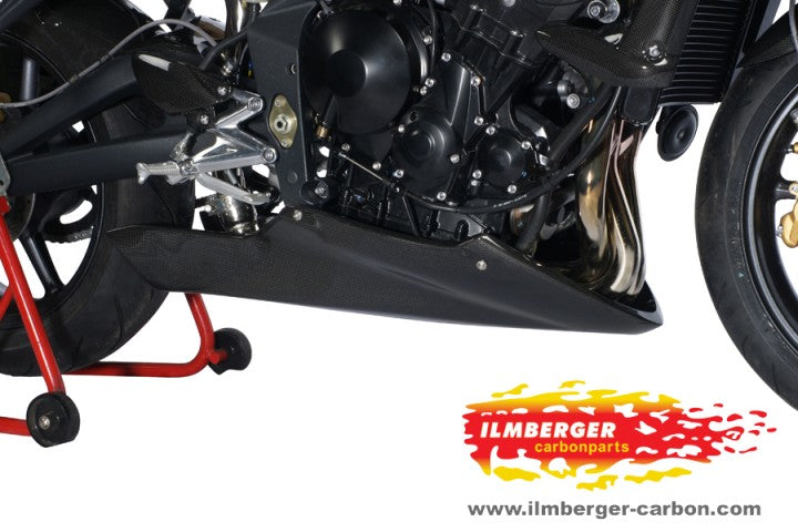 ILMBERGER Carbon Fiber Belly Pan 2007-2012 Triumph Street Triple 675/R