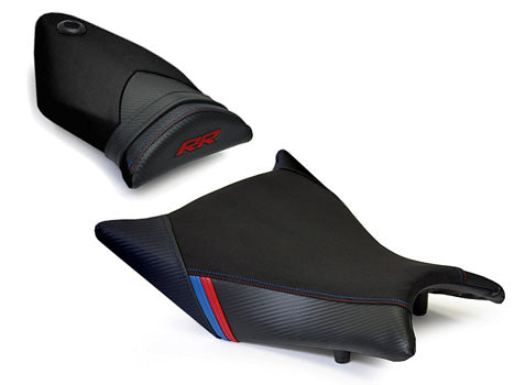 LuiMoto Motorsports Edition Seat Cover 2009-2011 BMW S1000RR - Black Suede