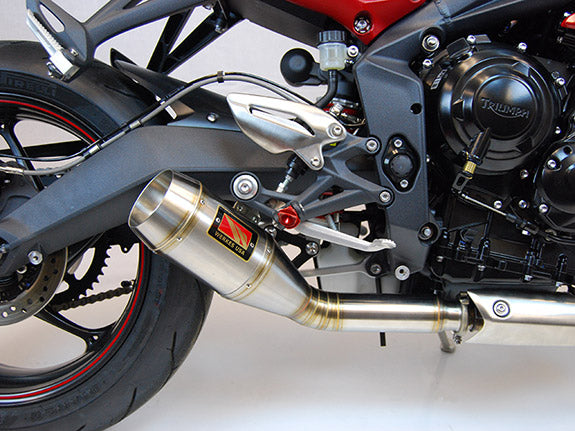 Competition Werkes GP Stainless Steel Slip-on Exhaust 2013-2016 Triumph Street Triple 675/R