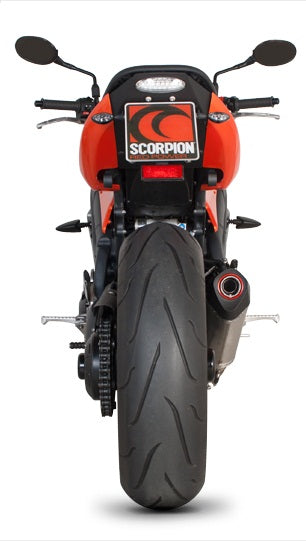 Scorpion Serket Taper Slip-on Exhaust System '08-'10 Triumph Speed Triple 1050