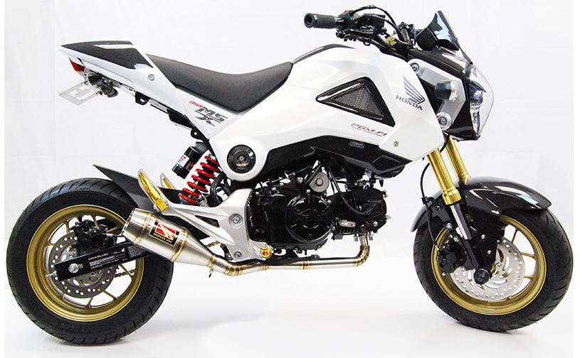 Silver Exhaust Systems Parts & Accessories Honda Grom MSX125
