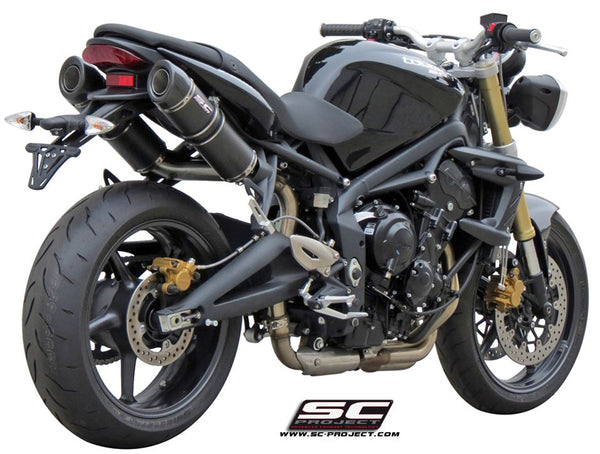SC Project GP-Tech Slip-on Exhaust for 2007-2012 Triumph Street Triple 675 / R