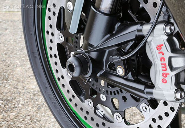 Sato Racing Front Axle Sliders for 2015 Kawasaki Ninja H2 | K-H2AS-F