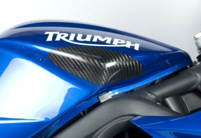 R&G Racing Carbon Fiber Tank Sliders SET for 2006-2012 Triumph Daytona 675/R, 2006-2012 Street Triple 675/R