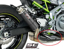 SC Project GP-M2 Carbon Slip-On Exhaust System '17-'20 Kawasaki Z900 (Missing Heatshield)