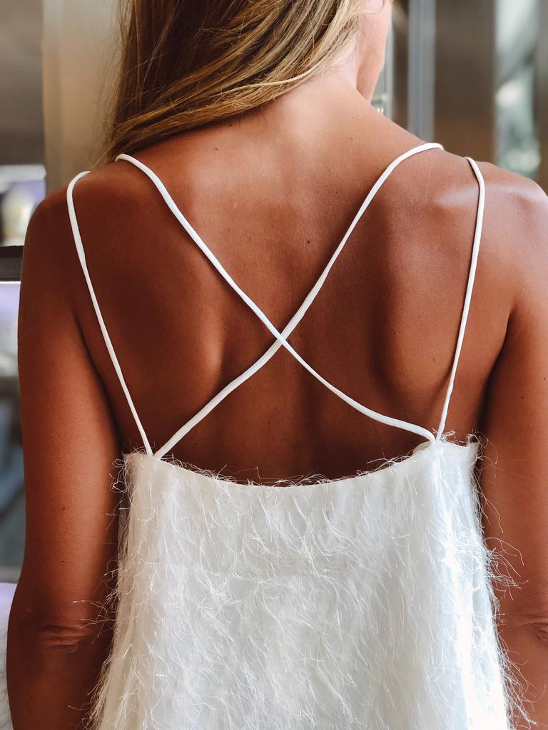 IVORY STRAPPY TOP