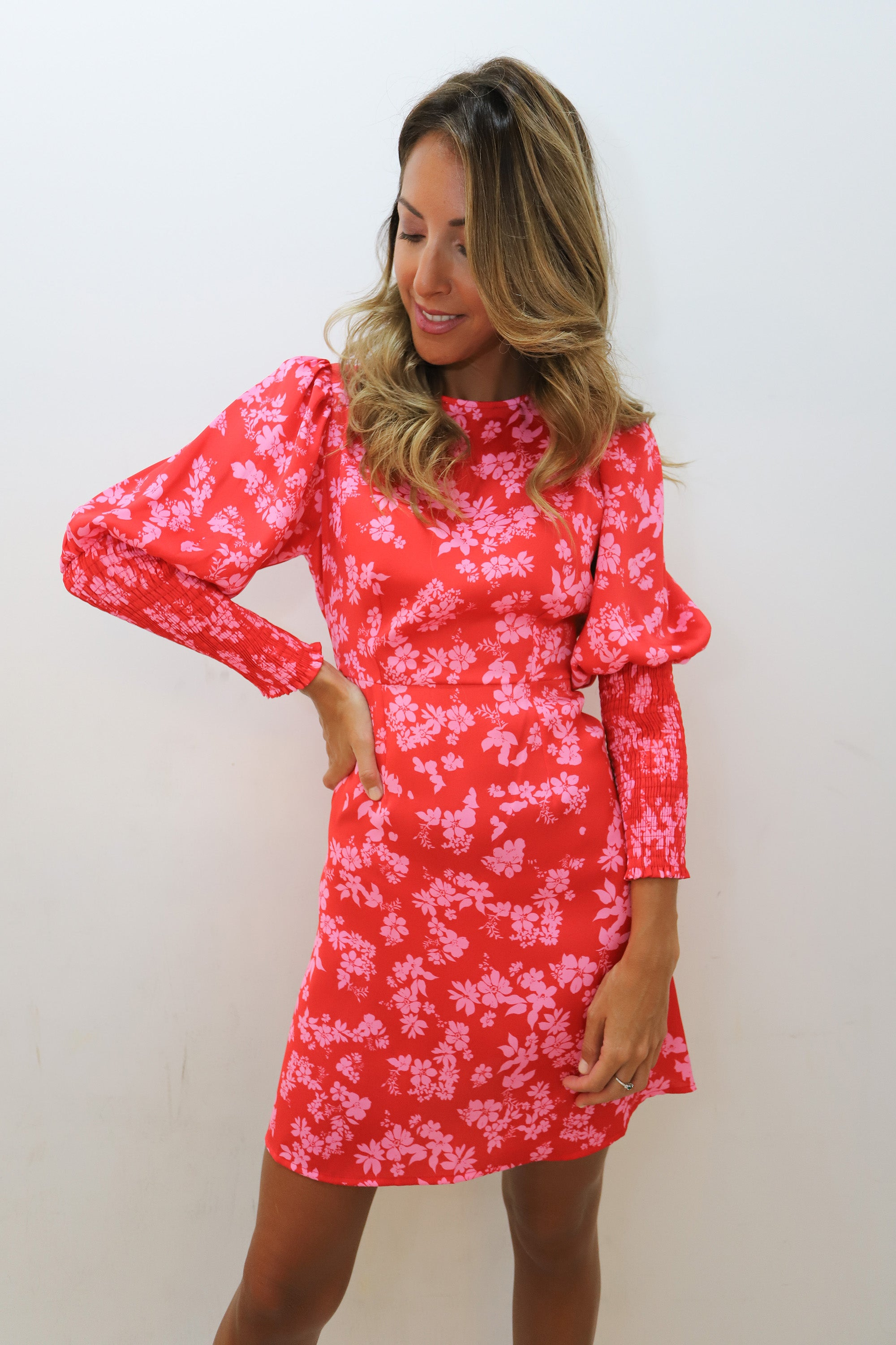 Red and Pink Colombia Dress