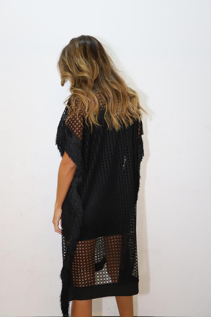 Black Net Dress