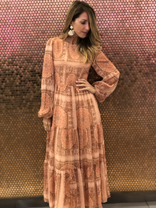 Sheer Sleeve Maxi Dress