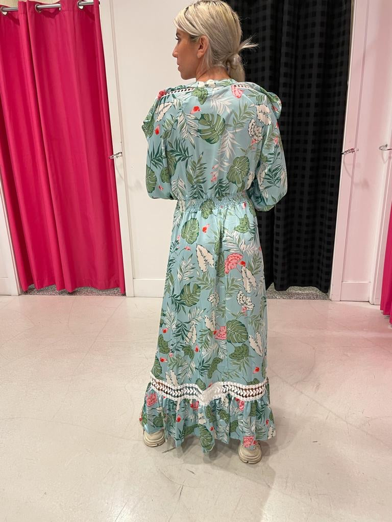 Hi-Low Floral Maxi Dress