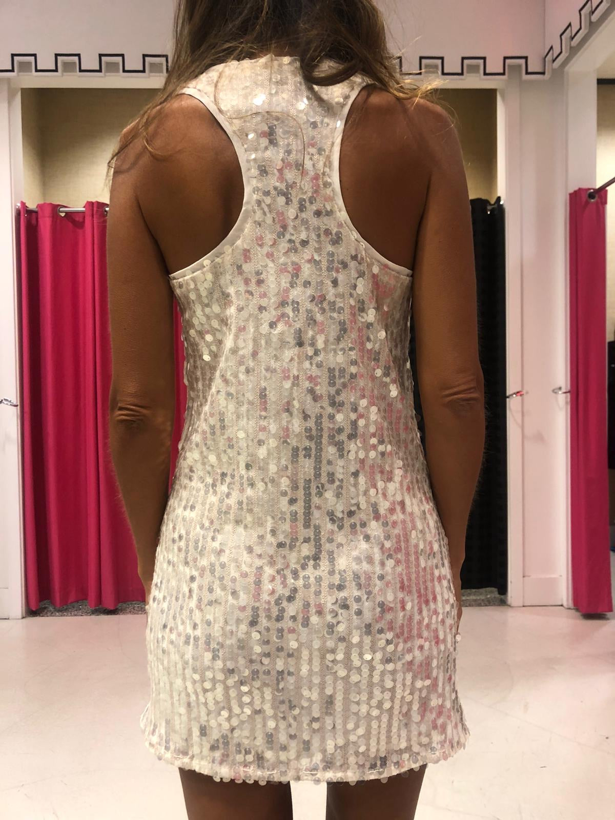 Back Tank Sequin Dress