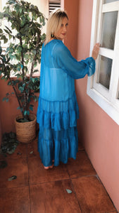 Blue Cannes Maxi Dress
