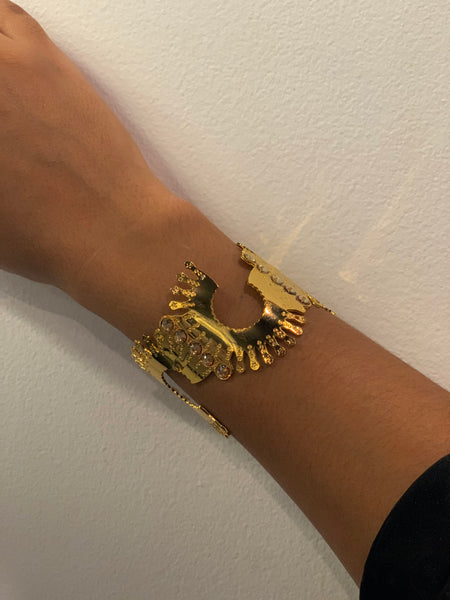 Gold Cuff with Diamond Detail