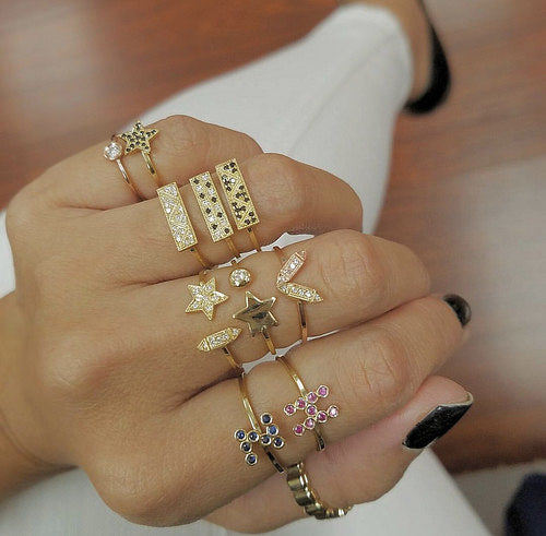 How to Stack Delicate Diamond Rings
