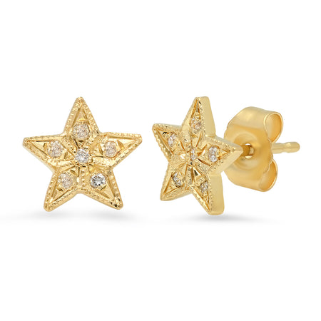 Baby Butterflies Gold Stud Earrings