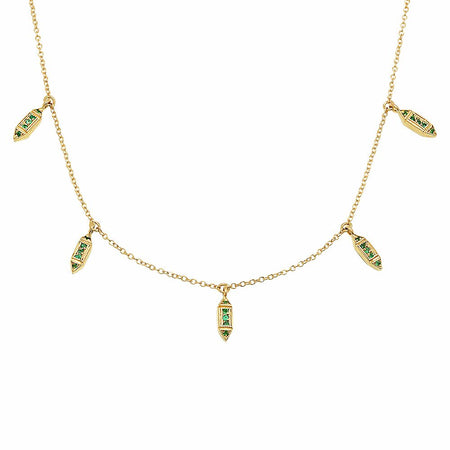 Triple Princess Diamond Lariat Necklace