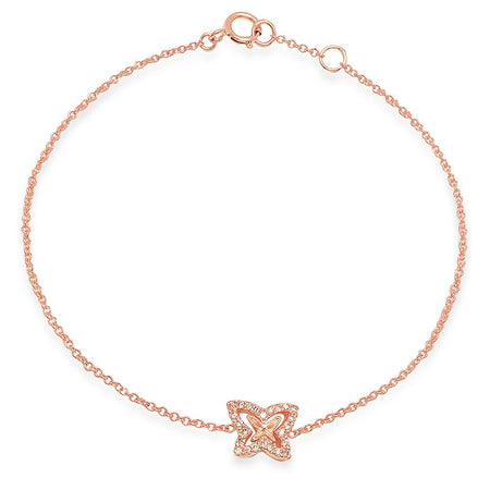 Baby Heart Diamond Dangle Bracelet