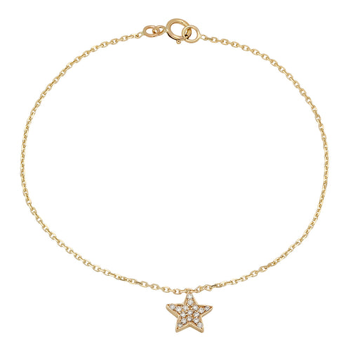 Shiny Star Diamond Bracelet