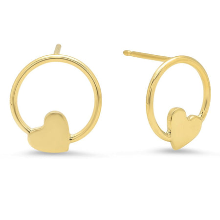 Sunshine Gold Stud Earrings