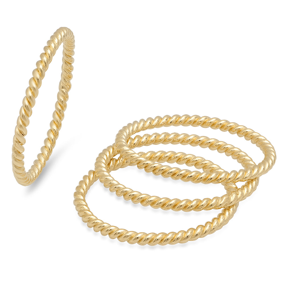 bracelet amazon gold rope quot twisted dp com link twist yellow double