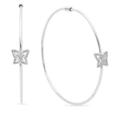 Baby Butterflies Diamond Hoop Earrings