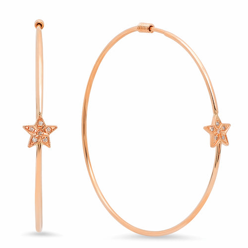Evangeline Diamond Hoop Earrings