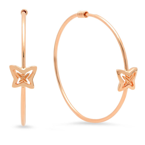 Baby Butterflies Gold Hoop Earrings