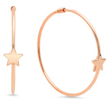Dashing Star Gold Hoop Earrings
