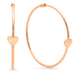 Loving Heart Gold Hoop Earrings