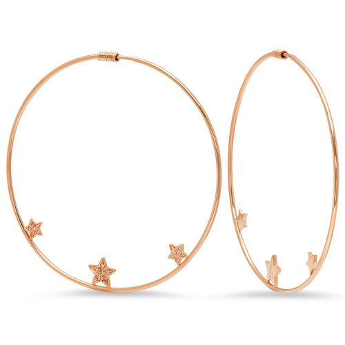 Over The Moon Gold Hoop Earrings