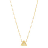 Triangle Diamond Birthstone Necklace
