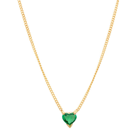 DSJ's Signature Meaningful Heart Birthstone Necklace
